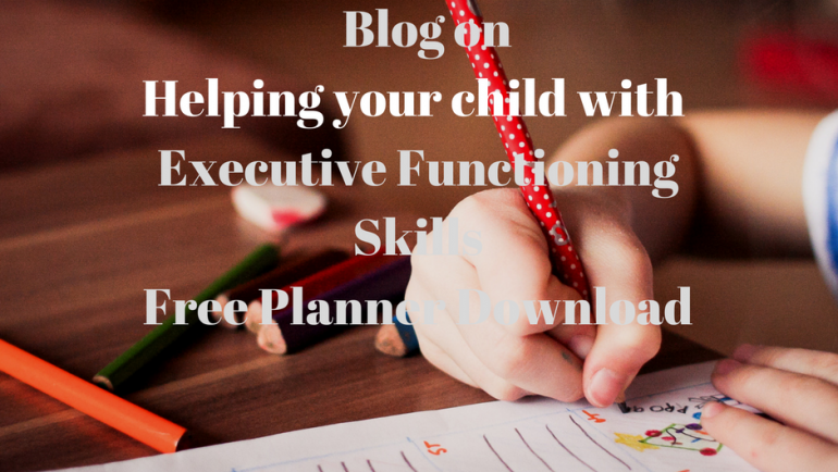 Help improve your Child's Executive Functioning Skills