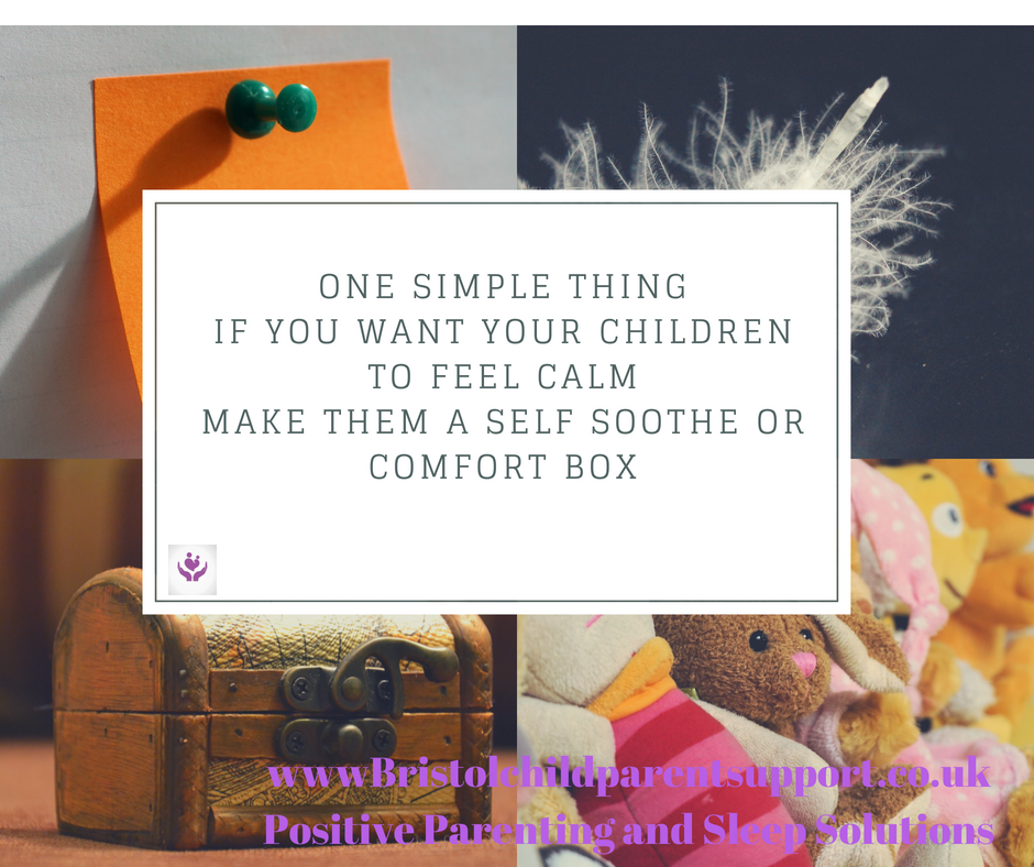 Create a self-soothe box to enable calm