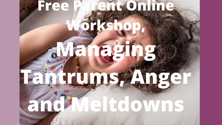 """Tantrums, Meltdowns, and Anger. Parenting during """"Hot"""" Moments."""