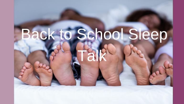 Free Back to School Sleep Talk